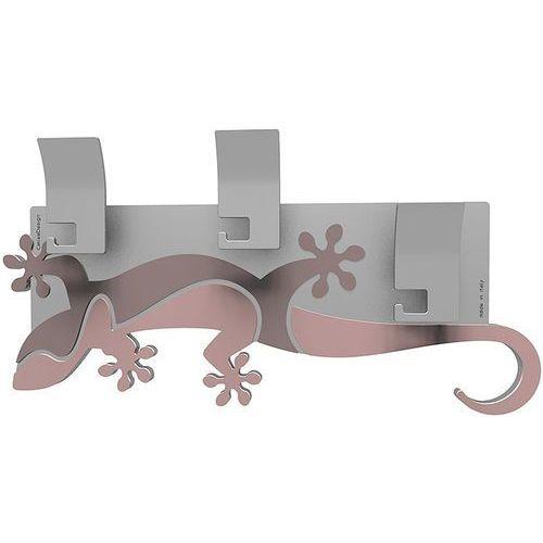 Wieszak ścienny dekoracyjny gecko antyczny-różowy (54-13-2-32) marki Calleadesign