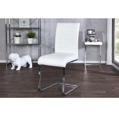 Krzesło Grafton - białe - wzór 1, kolor biały