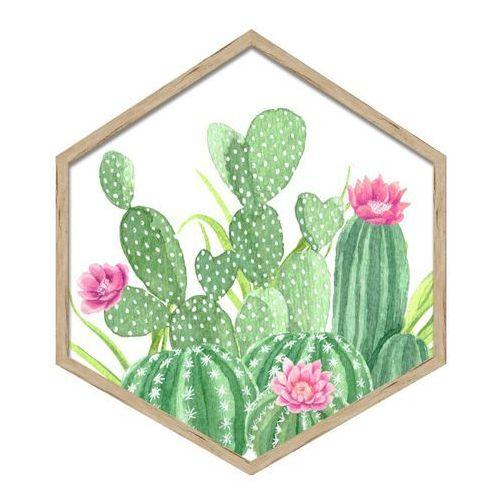Obraz heksagonalny Kaktusy 35 x 40 cm, 3540,001 KAKTUSY