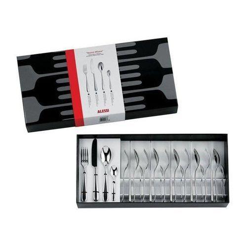 Komplet sztućców 24 elementy Nuovo Milano noże z jednego kawałka stali