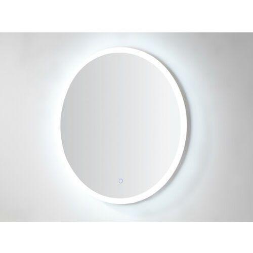 Podświetlane okrągłe lustro daniela dł. 60 × wys. 60 cm marki Vente-unique