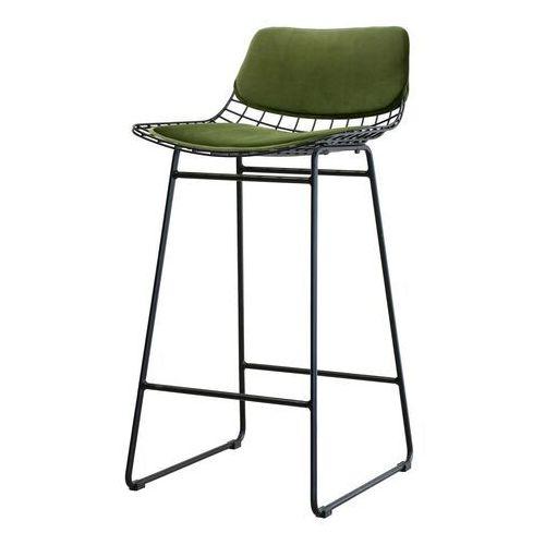 Hkliving zestaw poduszek comfort zielony do metalowego stołka barowego, druciany z poduszkami, zielony tot4018, TOT4018