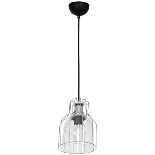 Lampa wisząca Luminex Aria 7887 zwis 1x60W E27 czarna / chrom / przezroczysta, 7887