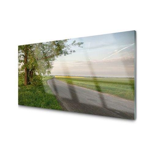 Panel kuchenny droga drzewo trawa krajobraz marki Tulup.pl