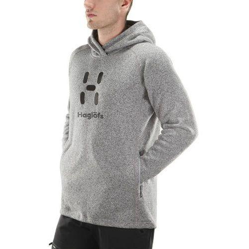 Haglöfs Swook Logo warstwa środkowa Mężczyźni szary XL 2018 Bluzy z kapturem, kolor szary