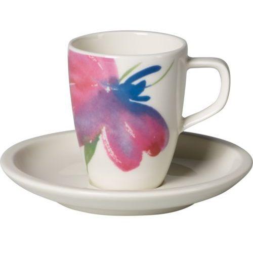 - artesano flower art filiżanka do espresso ze spodkiem marki Villeroy & boch