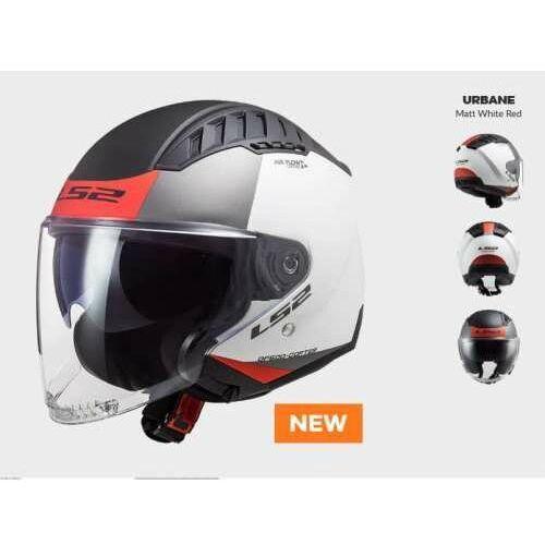 Kask motocyklowy kask of600 copter urbane matt white red - nowość 2021 roku! marki Ls2