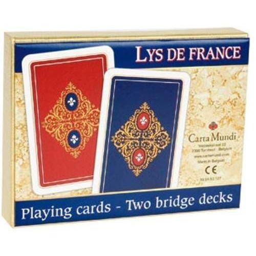 Cartamundi Lys de france - komplet brydżowy 2x55 kart