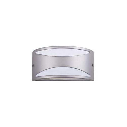 Kinkiet lampa oprawa ścienna zewnętrzna manhattan 1x60w e27 ip54 srebrny 8360 marki Rabalux