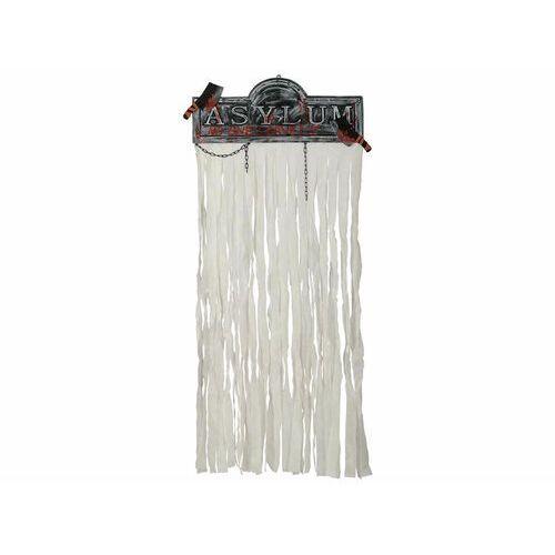 Biała kurtyna na drzwi ze znakiem na halloween - 1 szt. marki Guirca