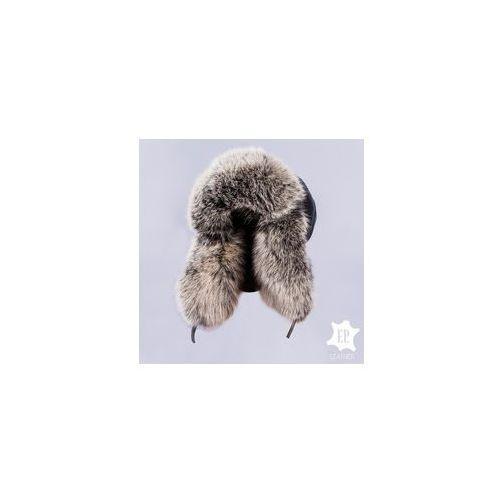 Naturalna czapka USZATKA / PILOTKA Z z JENOTEM [N51S], BC7B-3472A_20181005070255