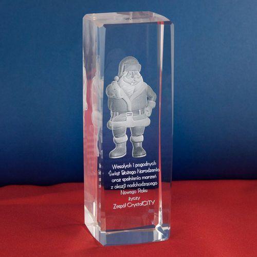 Święty Mikołaj 3D w wysokim krysztale + Twoje osobiste życzenia GRATIS