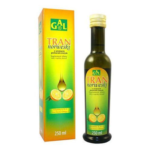 Tran Norweski o aromacie pomarańczowym płyn - 250 ml (5907501110731)