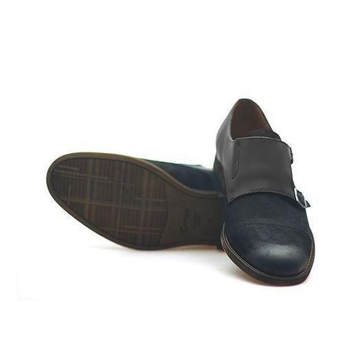 Conhpol Pantofle c00c-5663-zj24-00s02 czarne nubuk + lico