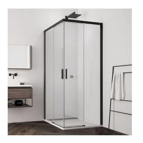 SanSwiss Top Line S wejście narożne z drzwiami rozsuwanymi 90x75cm TLSG0900607+TLSD0750607