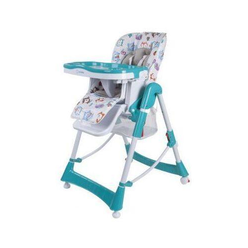 Krzesełko do karmienia Laura turkusowe Sun Baby B03.001.1.4 (5908446782168)