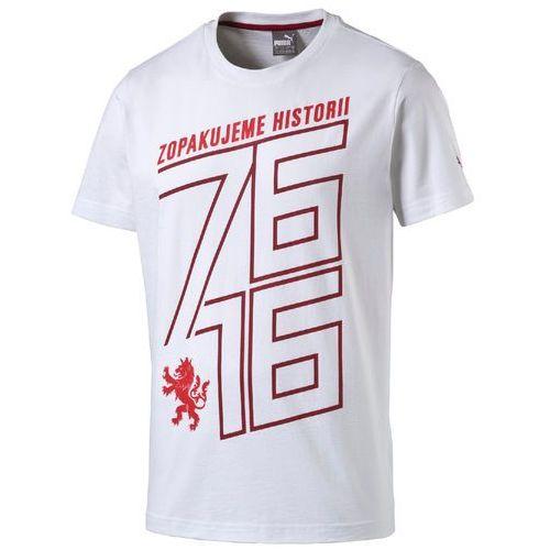 Puma koszulka Czech Republic 76 Fan Shirt white-chili XL