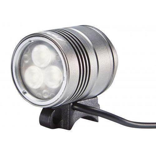 Red cycling products pro night beamer lampa na kask 1500lm srebrny latarki na kask