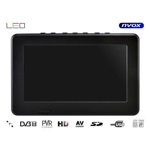 """Telewizor LED 7"""" USB SD AV-in PVR DVB-T/T2 MPEG-4/2 12V 230V"""
