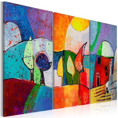 Obraz malowany - kolorowy pejzaż marki Artgeist