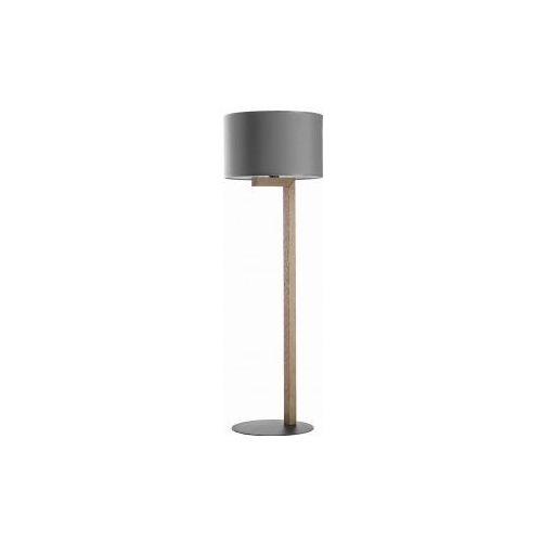 Tk lighting troy new 5032 lampa podłogowa stojąca 1x60w e27 grafit/sosna marki Tklighting