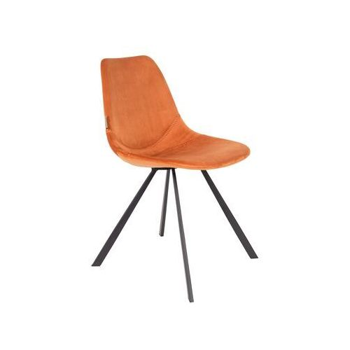 Dutchbone Krzesło Franky pomarańczowe 1100371, 1100371