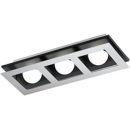 Eglo Plafon lampa sufitowa bellamonte 94232 metalowa oprawa led 9,9w prostokąt chrom czarny