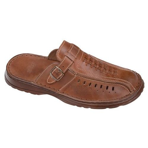 Łukbut Klapki buty 954 brązowe - brązowy