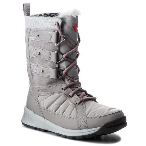 Śniegowce COLUMBIA - Meadows Shorty Omni-Heat 3D BL5967 Monument/Sunset Red 036, kolor szary