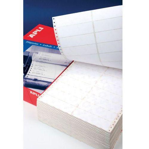 Apli Etykiety do drukarek igłowych , 137,2x74,1mm, 1-kolumna, prostokątne, białe