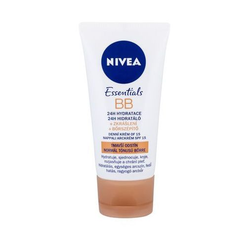 Nivea BB Cream 5in1 Beautifying Moisturizer, SPF10 Krem BB 50ml Medium To Dark (4005808745821)