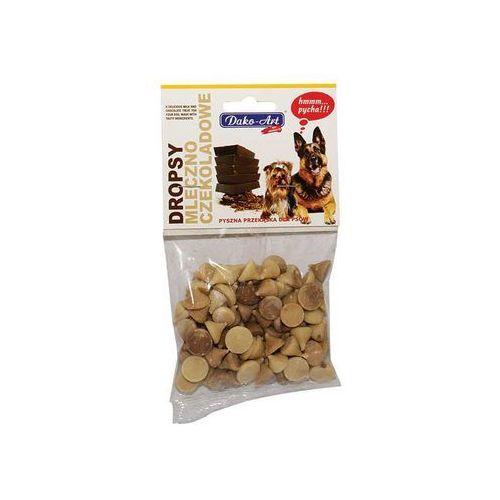 Dako-art  dropsy mleczno-czekoladowe dla psów - zawieszka 75g