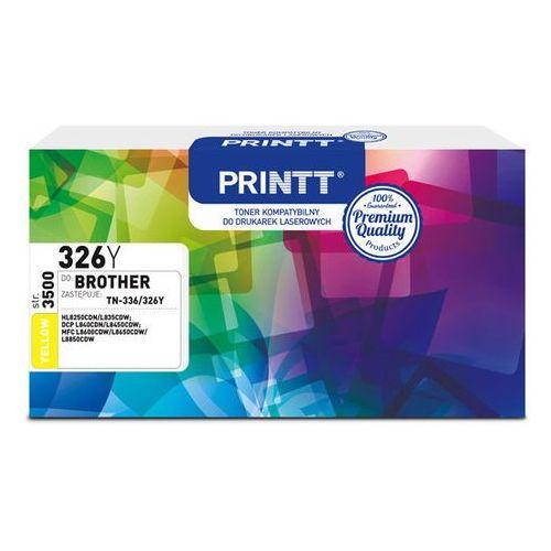 Ntt system Toner printt do brother ntb326y (tn-336/326) yellow 3500 str.