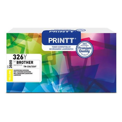 Toner PRINTT do BROTHER NTB326Y (TN-336/326) yellow 3500 str.
