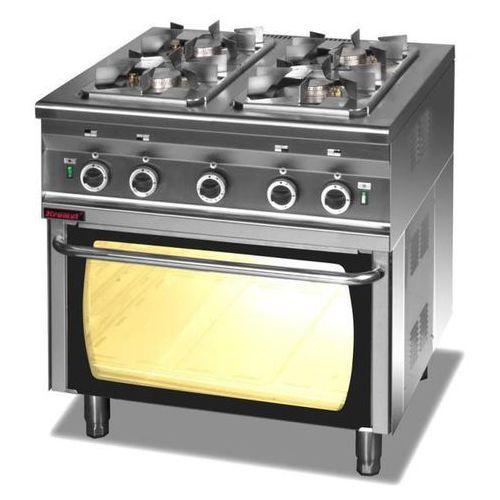 Kuchnia gazowa 4-palnikowa z piekarnikiem gazowym | , 000.kg-4s/pg-2 marki Kromet