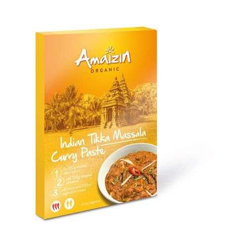 Amaizin (mleko kokosowe, tortilla, chipsy, inne) Pasta curry indian tikka massala bio 80 g - amaizin
