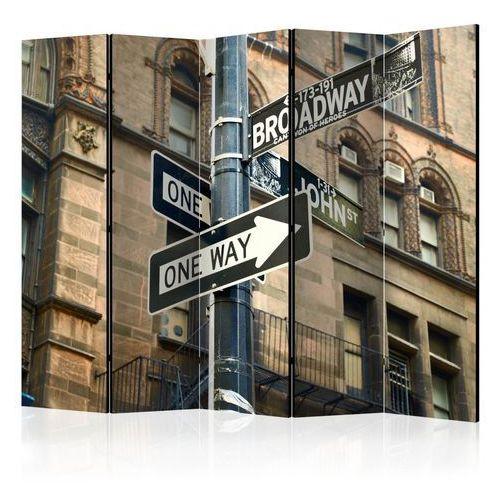 Parawan 5-częściowy - wszystkie drogi prowadzą na broadway ii [room dividers] marki Artgeist
