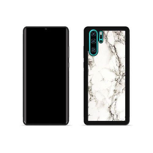 Huawei p30 pro - etui na telefon aluminum fantastic - biały marmur marki Etuo aluminum fantastic