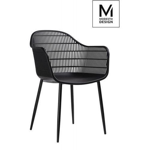 MODESTO krzesło BASKET czarne - polipropylen, PW502T.BLACK (10394465)