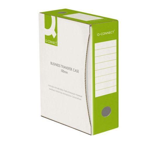 Pudło archiwizacyjne , karton, a4/100mm, zielone marki Q-connect