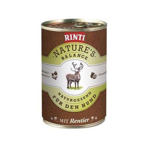 RINTI Nature's Balance - renifer, makaron pełnoziarnisty, warzywa, olej rybny, zioła 12x400g