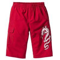 Długie bermudy Regular Fit bonprix ciemnoczerwony, kolor czerwony