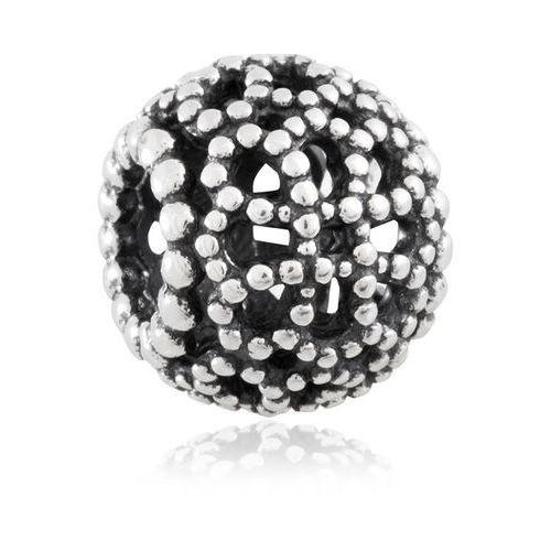 Murrano Charms koralik srebrny perłowy wianek