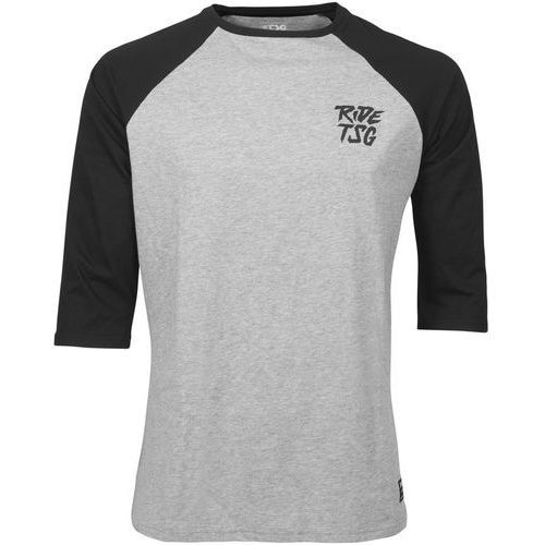 ripped raglan koszulka z rękawem 3/4 mężczyźni, heather grey/black m 2019 koszulki marki Tsg
