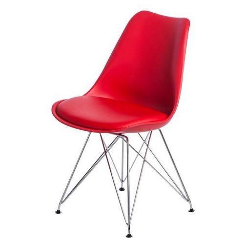 Krzesło Norden DSR PP czerwone 1613 - czerwony, kolor czerwony