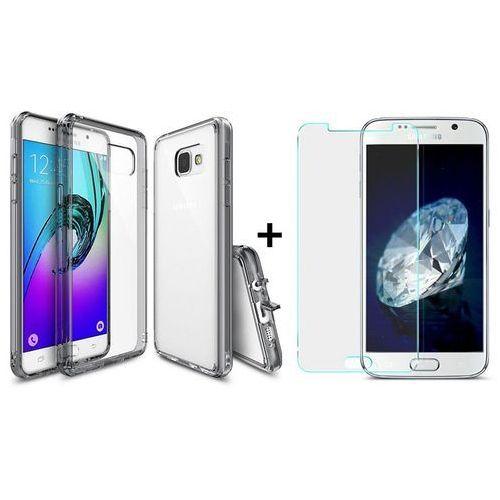 Zestaw | Rearth Ringke Fusion Smoke Black + Szkło ochronne | Etui dla Samsung Galaxy A3 2016 z kategorii Futerały i pokrowce do telefonów