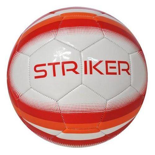 Axer sport Piłka nożna striker biało-czerwony (rozmiar 5)
