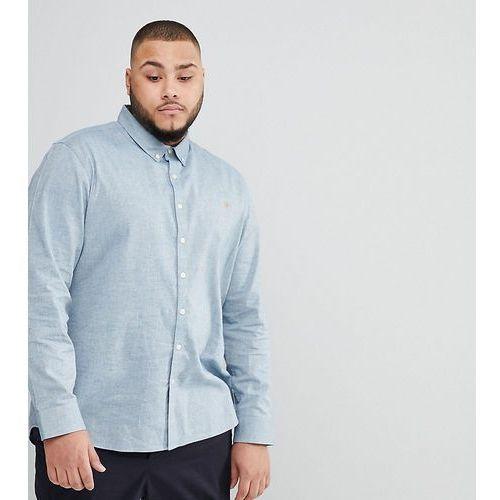 plus steen slim fit textured oxford shirt in grey - grey marki Farah