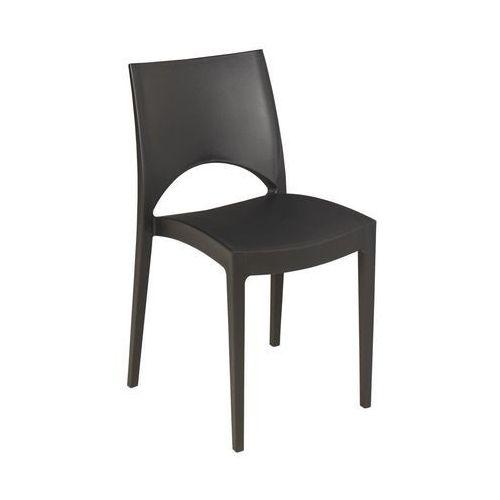 Telehit garden Krzesło ogrodowe paris plastikowe antracytowe