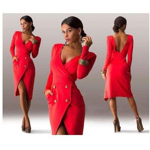 Sukienka dopasowana - Czerwony, kolor czerwony